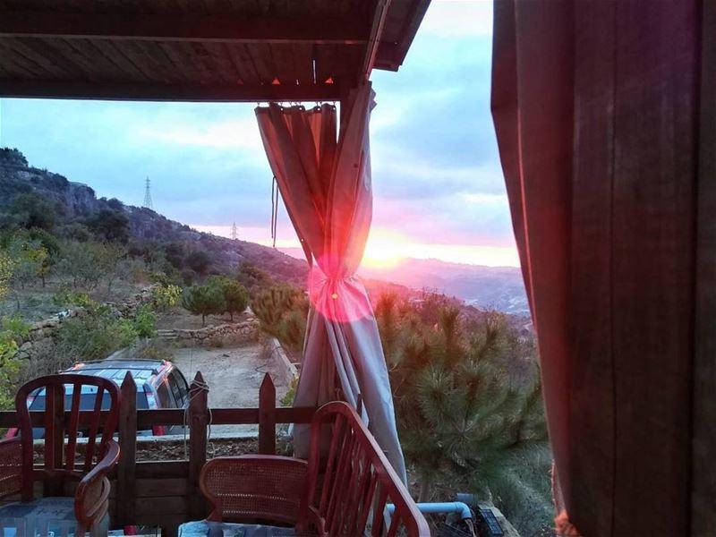 Serenity....😏😏 aleydistrict autumn fall sunset nature peace ... (Btalloun, Mont-Liban, Lebanon)