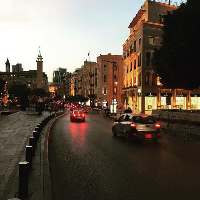 lebanon beirut downtown livelovebeirut sunset autumn lovely weather... (Downtown Beirut)