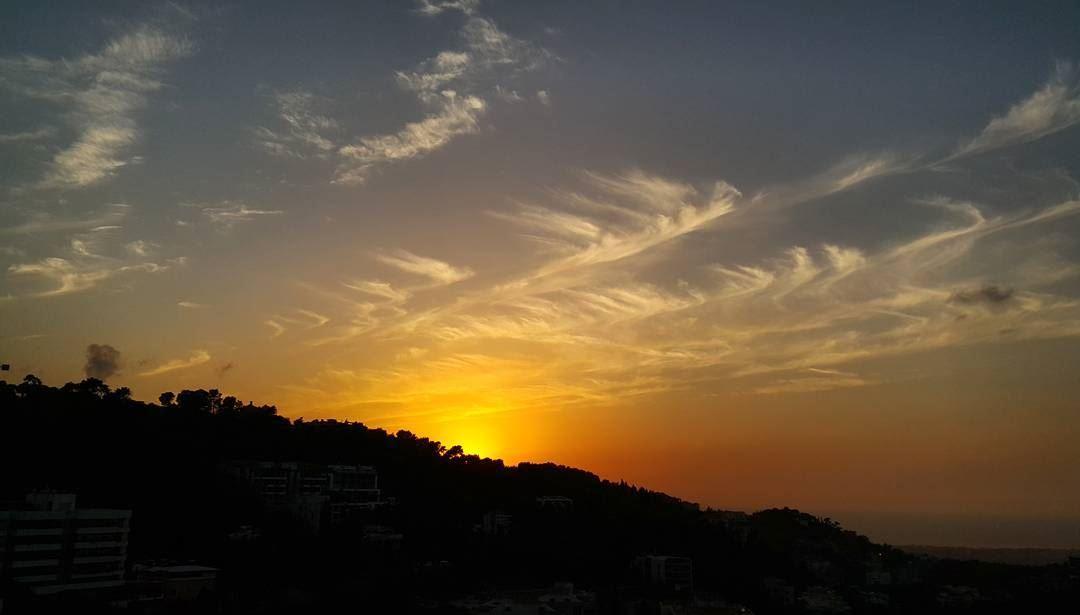 sunset skylovers sky sun clouds of october end ig_lebanon igers ... (Baabda)