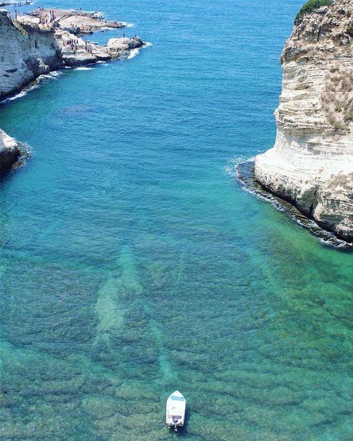 Will you jump ?💙💚Morning igers.By @buddcorp Rawché Rawshe Beirut ... (Ar Rawshah, Beyrouth, Lebanon)
