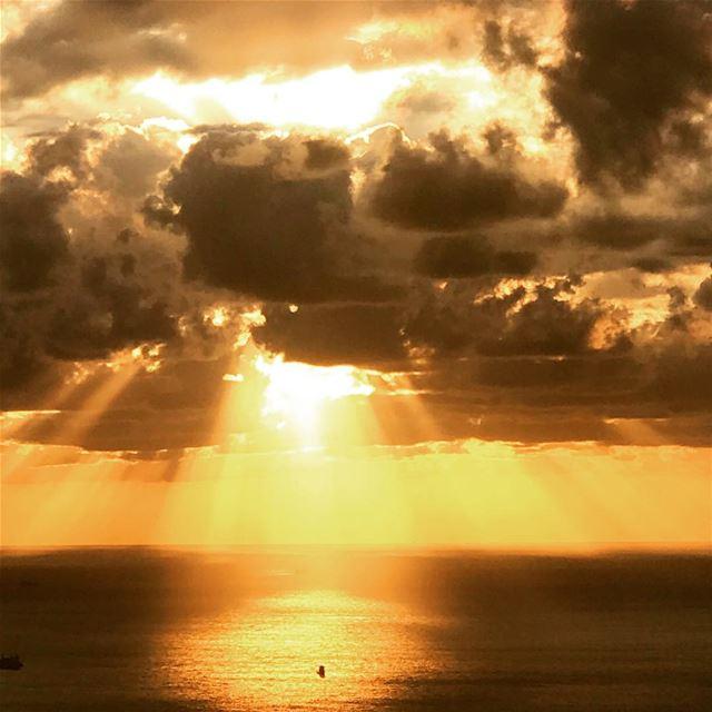 One of these nice autumn sunsets 🍂 lebanon beirut jounieh livelovebeirut... (جونية - Jounieh)