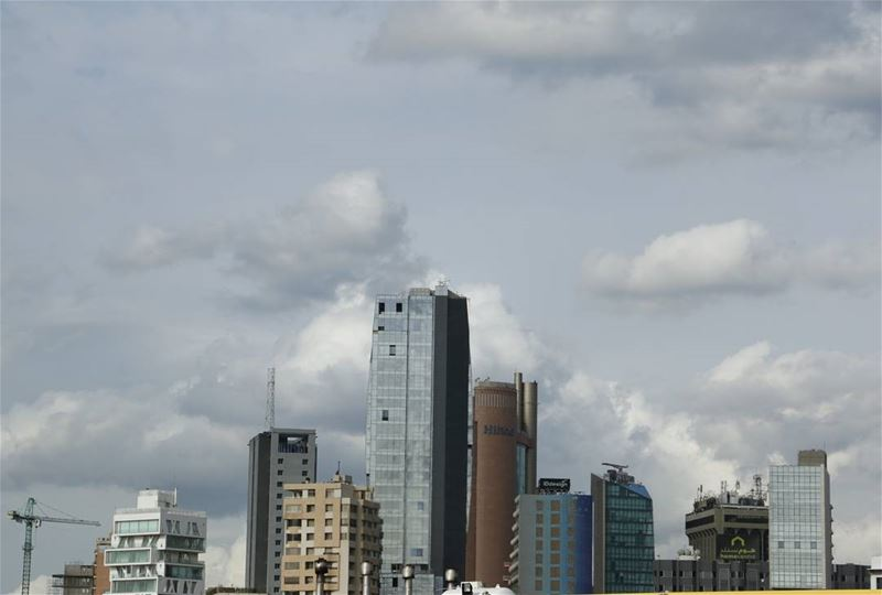 Sinn el Fil skyline in a cloudy day. .. cityphotos cityskyline ...
