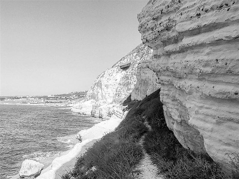 lebanon blackandwhiteonly beach instagood wanderlust travelgram ... (الناقورة / Al Naqoura)