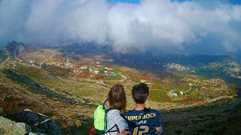 We watch and wait for the clouds to consume us!  themountaineers ... (Ehden, Lebanon)