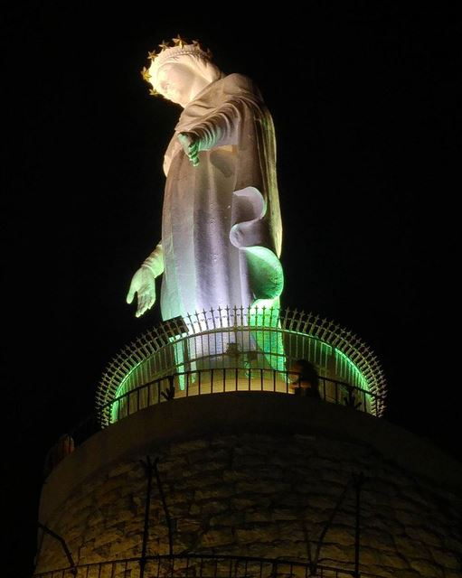 Blessed Mother Pray for us 🙏 lebanon nature naturelovers natureporn ... (Our Lady of Lebanon)