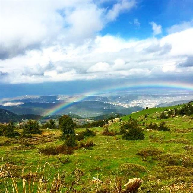 The rewarding view after a long morning run 🌞 nature naturelovers ... (`Akkar, Liban-Nord, Lebanon)