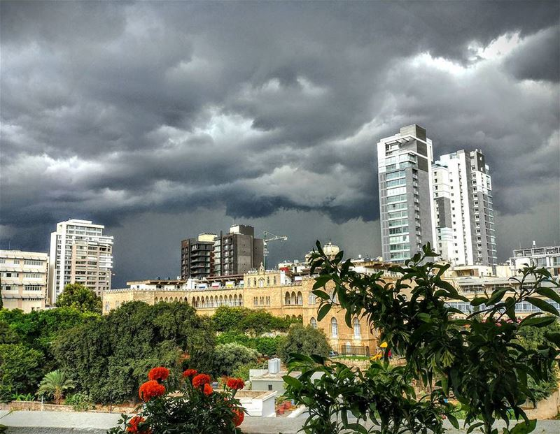 Beirut under the Storm...By Ghassan_Yammine livelovelebanon ... (Beirut, Lebanon)