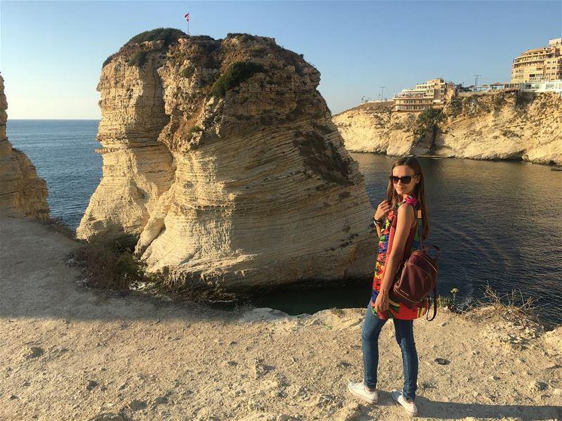 Pigeon Rocks, Lebanon 🇱🇧 ❤️ picoftheday traveling traveler instagood... (Pigeon Rock Beirut.)