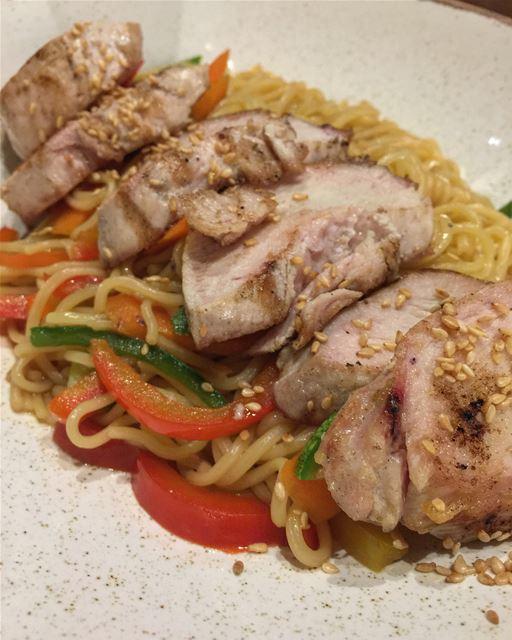 👭 @carolesbeity yummy yum food foodporn instafood noodles steak ... (Ni Caffe)