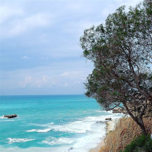mediterraneansea  wave  waves  naturephotography  nature  watercolor ... (Byblos - Jbeil)