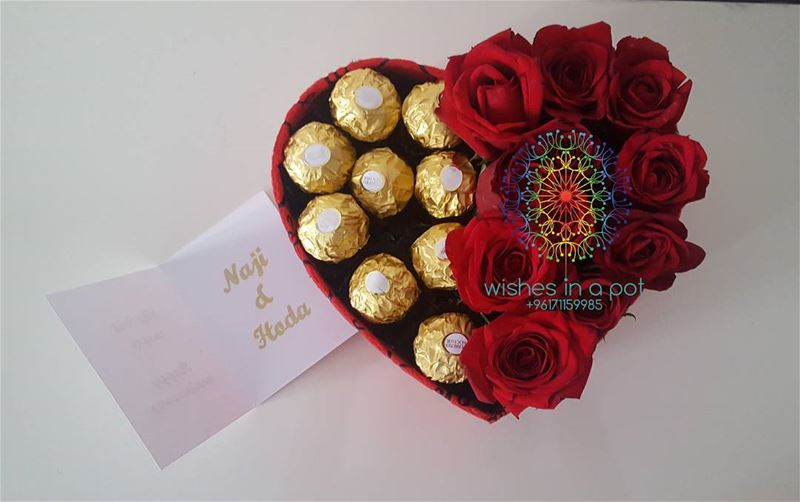 heartofgold chocolate roses redrose wishesinapot red ferrerorocher ...