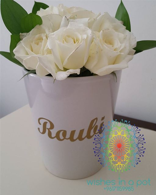 Customize ur own flower  pot 71159985 wishesinapot  white  gift  roses ...