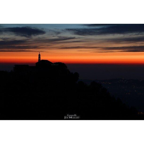 ayto sunset church colors clouds beautifullebanon wearelebanon ...