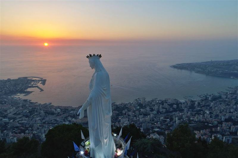 Our Lady of L E B A N O N ❤... AboveLebanon Lebanon LiveLoveBeirut ...