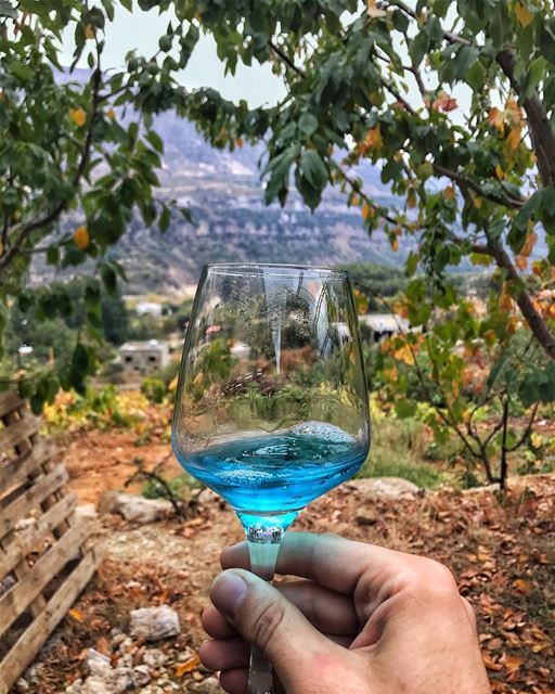 Finally tried the blue wine👌🏼! Thank you @smurfs for your warm welcome ... (Smurf Village)