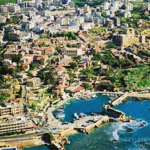 byblos aerial view aerialview lebanon towns sea mediterranean ... (Byblos, Lebanon)