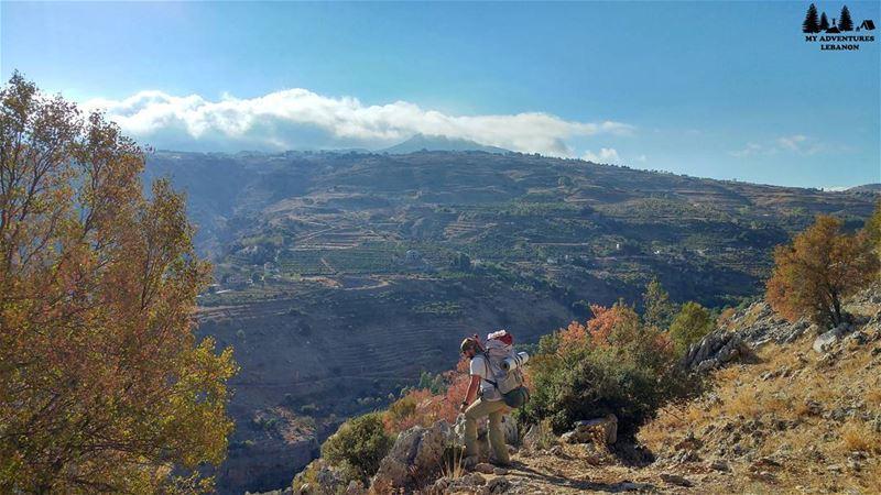 A reward for the uphill hike 🚶Mountain views 🗻😍🍃 myadventureslebanon... (Lebanon)