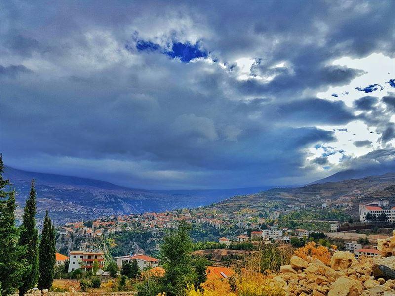 hasroun bcharre northlebanon north lebanon lebanonhouses clouds ... (Hasroun)