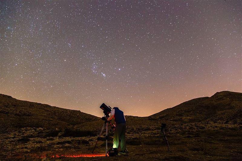 Somewhere.Something incredibleIs waiting to be known🌌..... stars... (Kfardebian,Mount Lebanon,Lebanon)