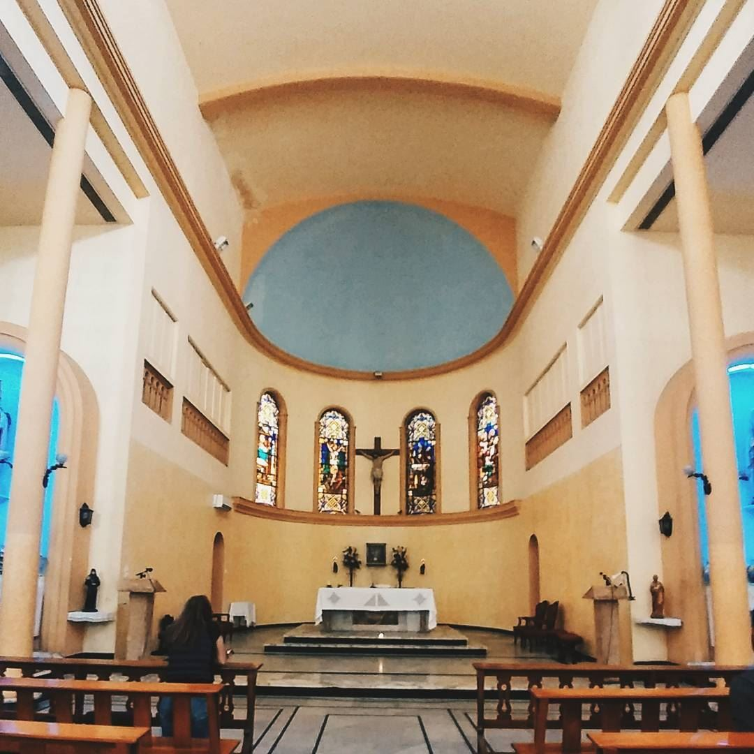a lunch break shot hamra stfrancis church religious hamra beirut ... (Saint Francis Church Hamra)