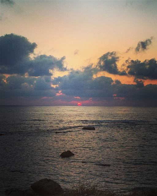 Magic hour from tyre 😍 lebanon tyre sunset magichour nature ... (Soûr, Al Janub, Lebanon)