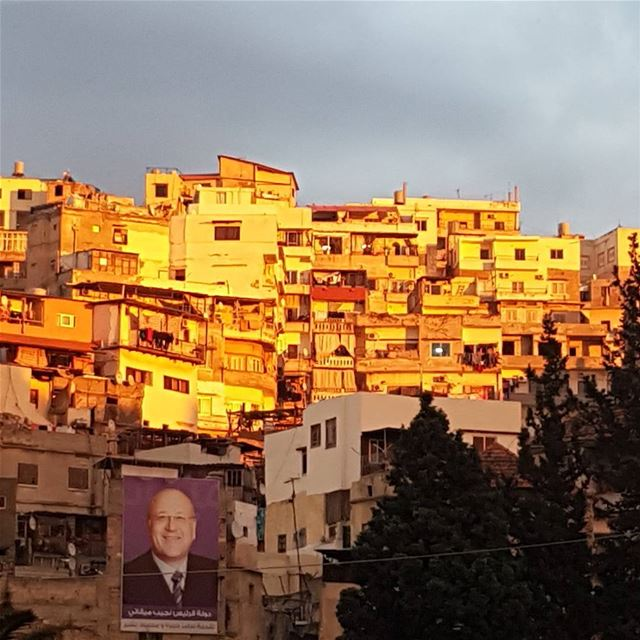 Tripoli at sunset, the city of past and present, light and shadows, on a...