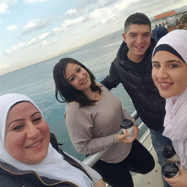 morning wz them after crazynight fun love besties ... (Beirut at Manara -zaituna bay)