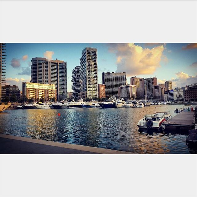 @tatiana_chahine urbanism skyscrapers sunset boats yachts tb travel... (Zaitunay Bay)