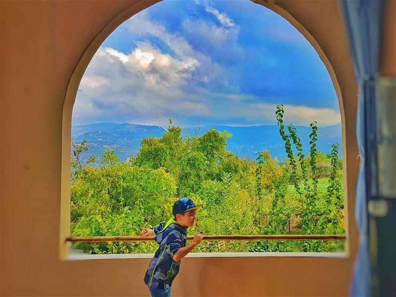 autumn autumn🍁 window clouds future kfarkatra chuf chouf lebanon... (Kfar2atra Chouf)