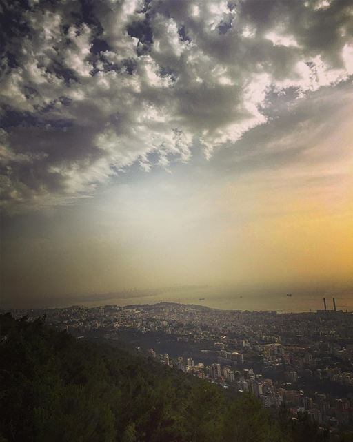 Magic hour from jounieh 😍 lebanon jounieh kesserwan sunset clouds ... (The Terrace - Restaurant & Bar Lounge)