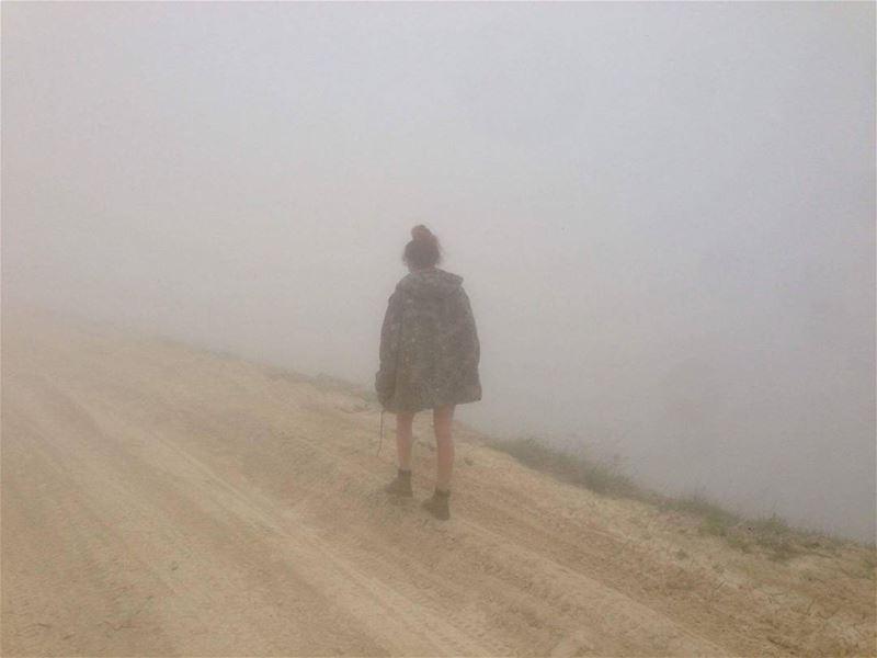 tbt fog mist loner road hike hiking hikingadventures hiker lebanon...