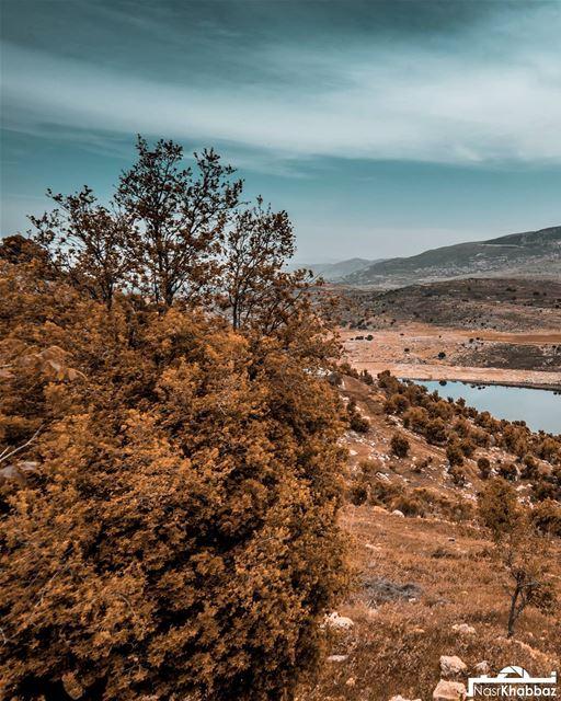 naturephotography landscapephotography mountain qaroun lake nature ... (El Qaraoun, Béqaa, Lebanon)
