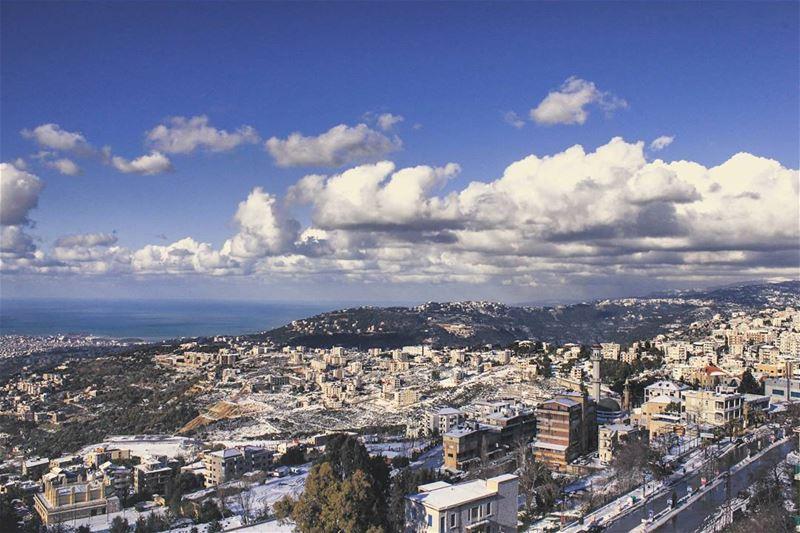 Missing snow on the streets! ⛄ livelovelebanon lebanon beirut nature ... (Aley)