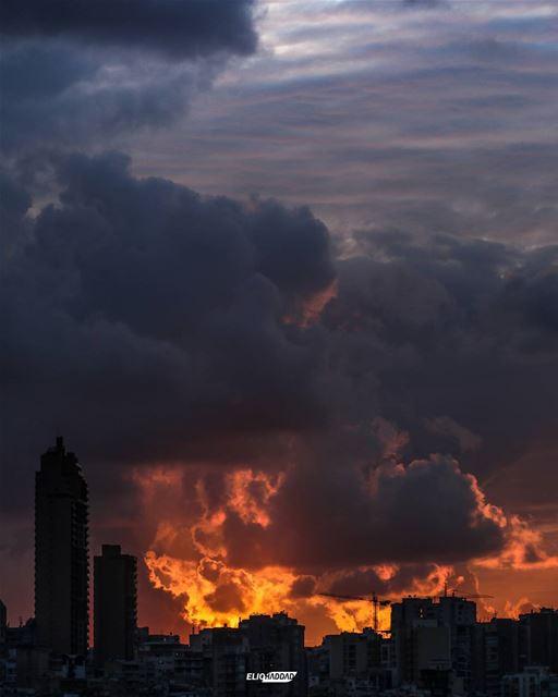 Lebanon Beirut City Sunset ...
