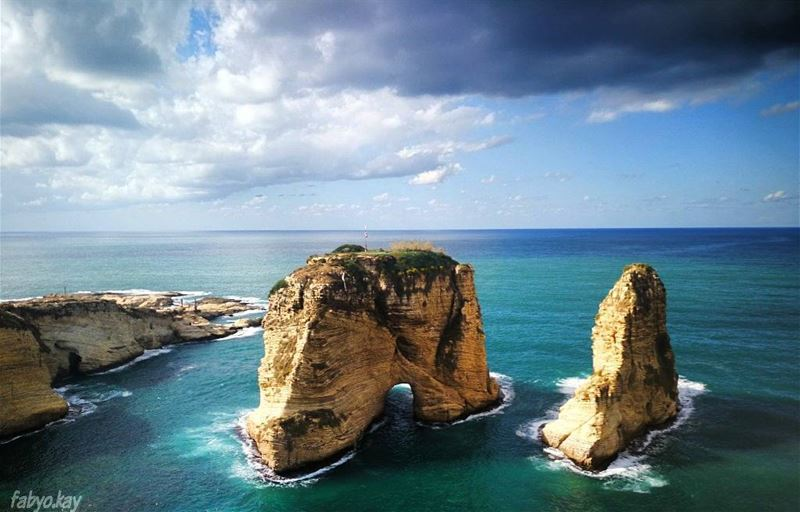 rawche lebanon beirut skylovers photooftheday cloudy igersbeirut ... (Beirut, Lebanon)