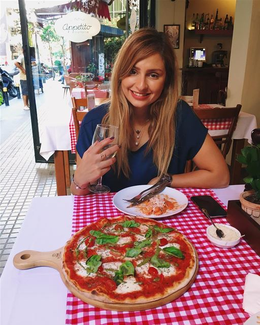 When it's authentic italian 🇮🇹 Who's a pizza/pasta lover? 😋... (Beirut, Lebanon)