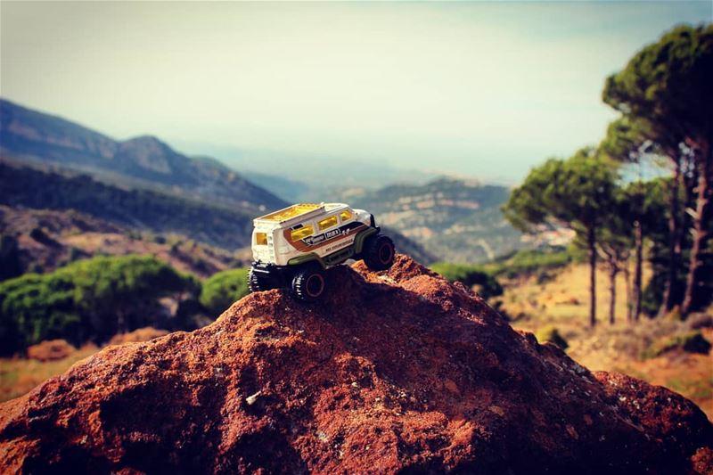 offroad playground fun mountains mountaintop mountainlover lebanon ... (Hadeth El Joubbe, Liban-Nord, Lebanon)
