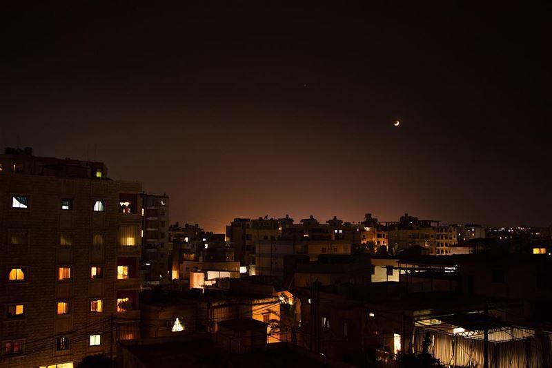 🌙 ... night nightphotography nightshot landscape landscapephotography... (Beirut, Lebanon)