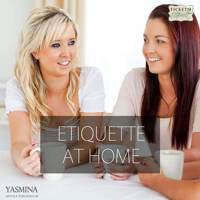 Vera on how  courtesy begins at home with @gracytta in @yasminadotcomخبيرة (Beirut, Lebanon)