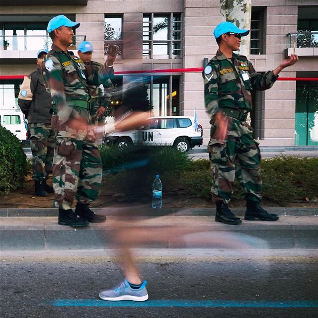 phantom of the Marathon. UN Soldiers cheering runners in general but...