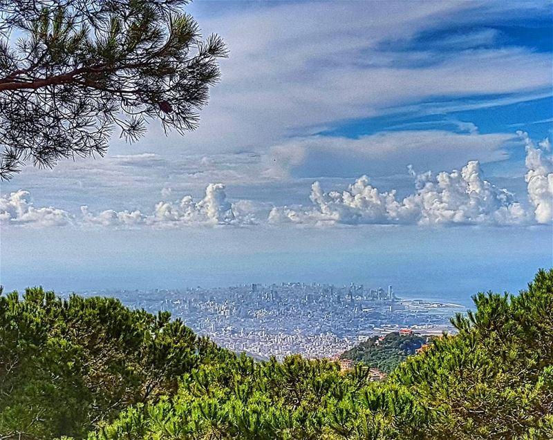 Prefect skies over Beirut City ptk_sky beirut sky autumn clouds ... (Mar Chaaya Broumana)