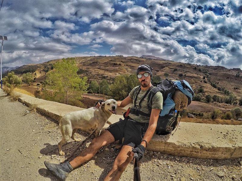 My new favorite hiking buddy 🐶 after @jubranelias and @myadventureslebanon (Somewhere)