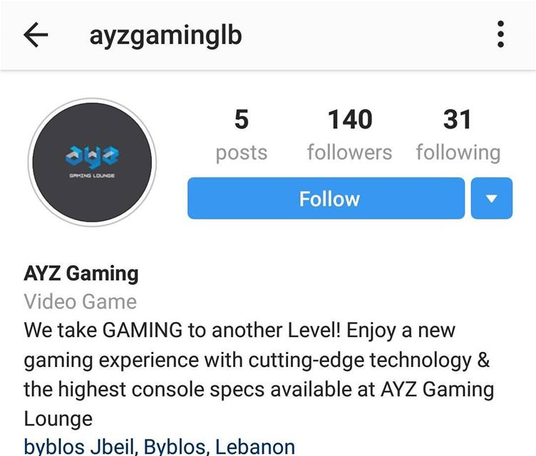 Dear All Follow @ayzgaminglb  a new gaming experience opening soon in... (Byblos, Lebanon)