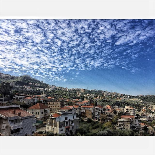 My beautiful village 💙💚  beitchabeb  beitchabab  view  amazing ... (Beït Chabâb, Mont-Liban, Lebanon)