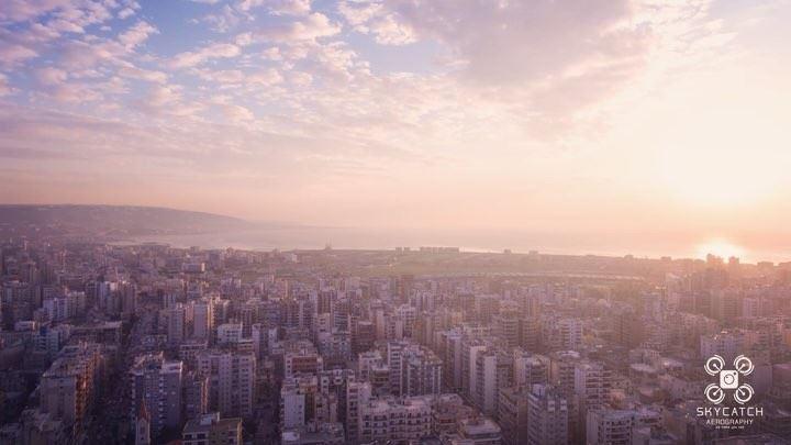beautiful explore sunrise sunset epic adventure aerial ... (Lebanon)