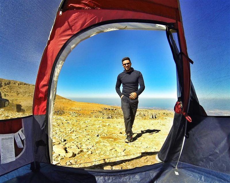 Do You Like Camping? ⛺️☀️ ExploreWithChris. BSHIL followme natgeo ... (Ehden, Lebanon)