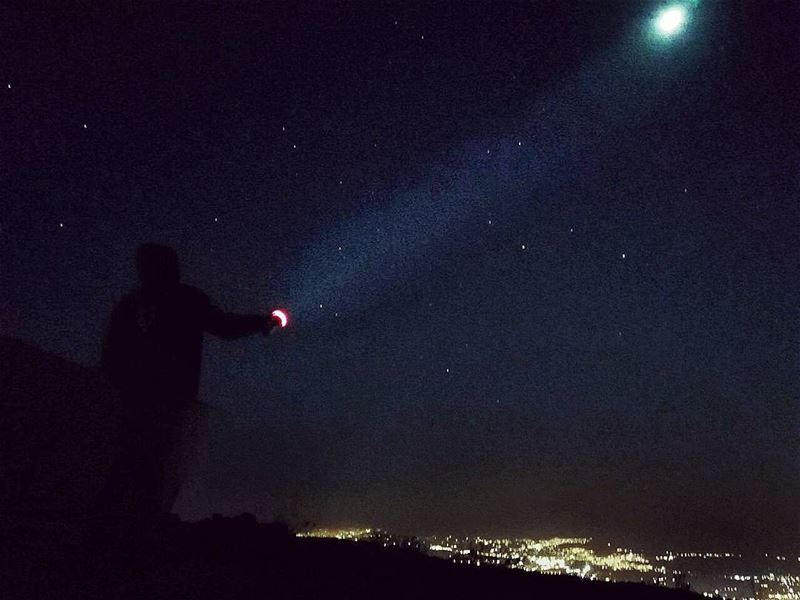 The reason why the moon is so bright 😉😆🤘  moon  bright  moonlight ... (Jabal el Knîssé)