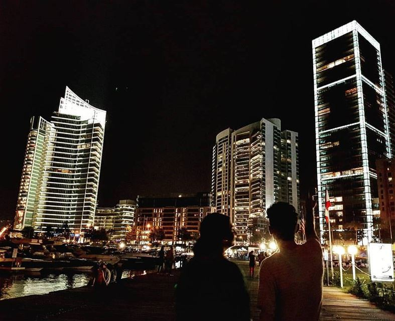 "Our beautiful city ""Beirut""... beirutcity beirut freedom citylights... (Zaytouna Bay Beirut)"