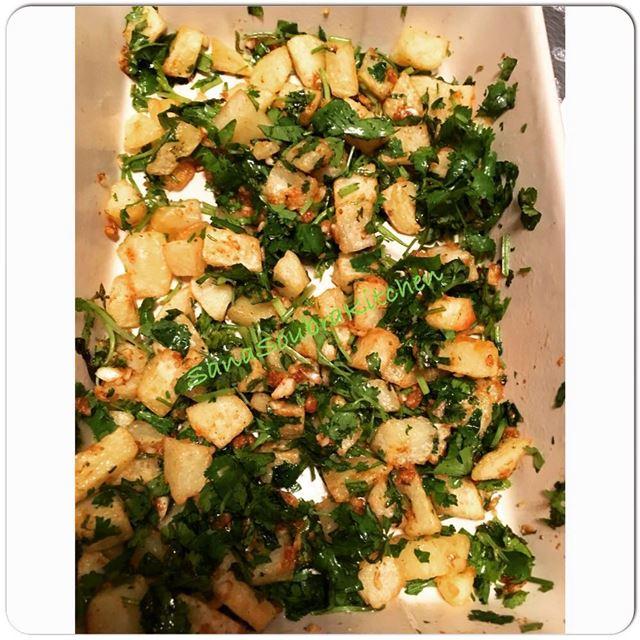 potato coriander spicypotatoes batataharra lebanon food instafood ...