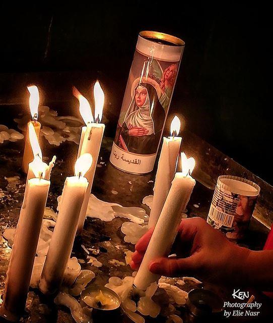 ...أنعم عليّ يا رب أن أستعدّ دائماً للقياك القديسة_ريتا saint_rita ... (Sinn Al Fil, Mont-Liban, Lebanon)